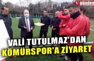 VALİ TUTULMAZ'DAN KÖMÜRSPOR'A ZİYARET