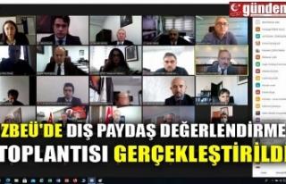 ZBEÜ'DE DIŞ PAYDAŞ DEĞERLENDİRME TOPLANTISI...