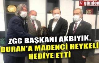 ZGC BAŞKANI AKBIYIK, DURAN'A MADENCİ HEYKELİ...