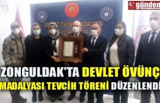 ZONGULDAK'TA DEVLET ÖVÜNÇ MADALYASI TEVCİH...