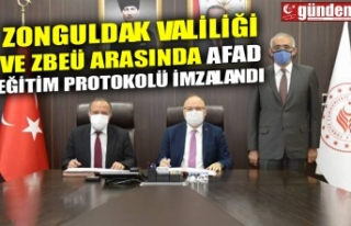 ZONGULDAK VALİLİĞİ VE ZBEÜ ARASINDA AFAD EĞİTİM...