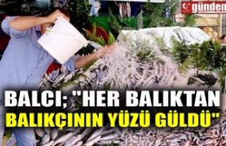 """BALCI; """"HER BALIKTAN BALIKÇININ YÜZÜ GÜLDÜ"""""""