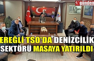 EREĞLİ TSO'DA DENİZCİLİK SEKTÖRÜ MASAYA...