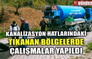 KANALİZASYON HATLARINDAKİ TIKANAN BÖLGELERDE ÇALIŞMALAR...