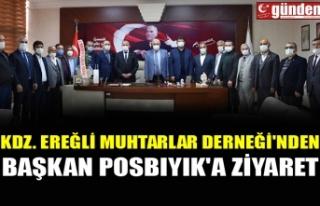 KDZ. EREĞLİ MUHTARLAR DERNEĞİ'NDEN BAŞKAN...