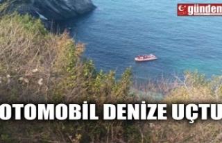OTOMOBİL DENİZE UÇTU