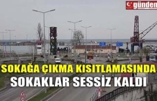 SOKAĞA ÇIKMA KISITLAMASINDA SOKAKLAR SESSİZ KALDI