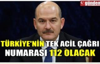 TÜRKİYE'NİN TEK ACİL ÇAĞRI NUMARASI 112...