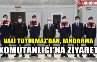 VALİ TUTULMAZ'DAN, JANDARMA KOMUTANLIĞI'NA...