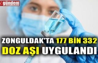 ZONGULDAK'TA 177 BİN 332 DOZ AŞI UYGULANDI