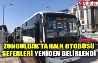 ZONGULDAK'TA HALK OTOBÜSÜ SEFERLERİ YENİDEN...