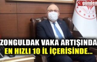 ZONGULDAK VAKA ARTIŞINDA EN HIZLI 10 İL İÇERİSİNDE...