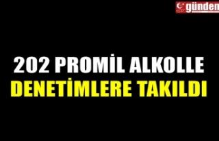 202 PROMİL ALKOLLE DENETİMLERE TAKILDI