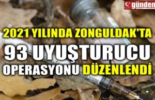 2021 YILINDA ZONGULDAK'TA 93 UYUŞTURUCU OPERASYONU...
