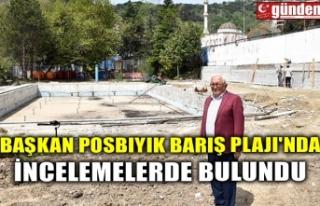 BAŞKAN POSBIYIK BARIŞ PLAJI'NDA İNCELEMELERDE...