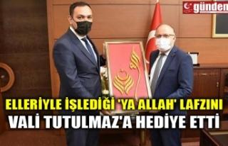 ELLERİYLE İŞLEDİĞİ 'YA ALLAH' LAFZINI...