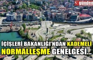 İÇİŞLERİ BAKANLIĞI'NDAN KADEMELİ NORMALLEŞME...