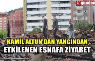KAMİL ALTUN'DAN YANGINDAN ETKİLENEN ESNAFA...