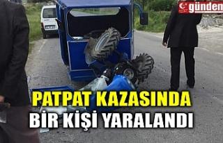 PATPAT KAZASINDA BİR KİŞİ YARALANDI