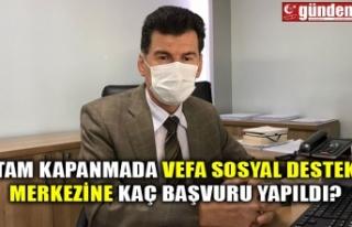TAM KAPANMADA VEFA SOSYAL DESTEK MERKEZİNE KAÇ BAŞVURU...
