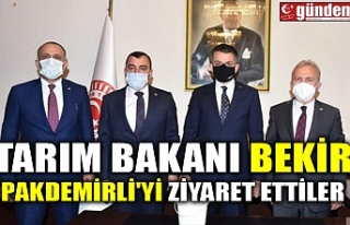 TARIM BAKANI BEKİR PAKDEMİRLİ'Yİ ZİYARET...