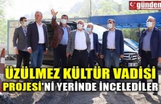 ÜZÜLMEZ KÜLTÜR VADİSİ PROJESİ'Nİ YERİNDE...