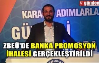 ZBEÜ'DE BANKA PROMOSYON İHALESİ GERÇEKLEŞTİRİLDİ