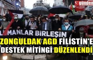 ZONGULDAK AGD FİLİSTİN'E DESTEK MİTİNGİ...