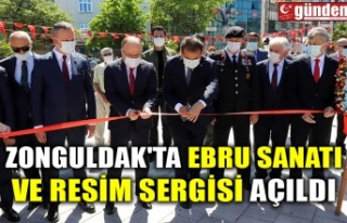 ZONGULDAK'TA EBRU SANATI VE RESİM SERGİSİ...