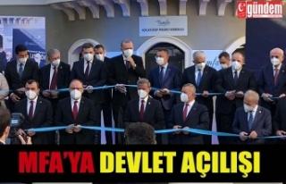 CUMHURBAŞAKANI TARAFINDAN MFA MASKE FABRİKASI AÇILIŞ...