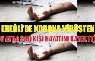 EREĞLİ'DE KORONA VİRÜSTEN 5 AYDA 380 KİŞİ...