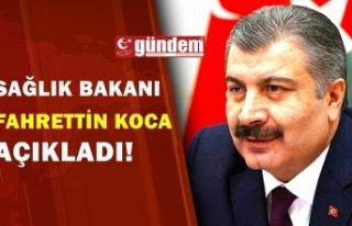 Sağlık Bakanı Fahrettin Koca açıkladı. Güvenle...