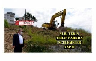 Teras Park'ta çalışmalar hızlı başladı
