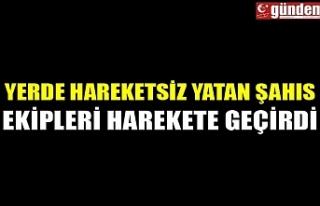 Zonguldak'ın Çaycuma ilçesinde yerde yatan...