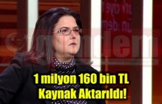 1 milyon 160 bin TL Kaynak Aktarıldı!