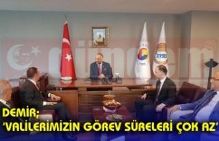 Ahmet Akın, Ticaret ve Sanayi Odası Başkanı Metin...