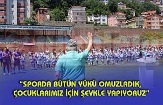 Belediye Başkanı Halil Posbıyık, Yaz Futbol Okulu...