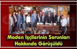 CHP'li milletvekilleri Genel Maden İşçileri...