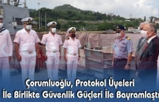 Çorumluoğlu, Protokol Üyeleri İle Birlikte Güvenlik...