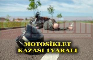 Dengesini Kaybedip Motosikletten Düşen Sürücü...