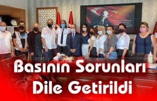 GAZETECİLERDEN BAŞSAVCI ALAN'A ZİYARET