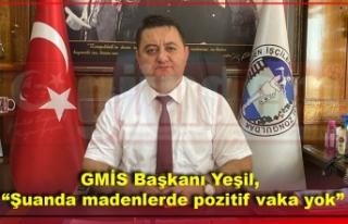 """GMİS Başkanı Yeşil, """"Şuanda madenlerde pozitif..."""