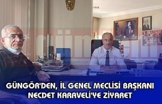 GÜNGÖR'DEN, İL GENEL MECLİSİ BAŞKANI NECDET...