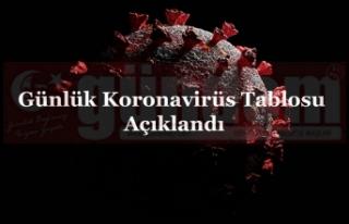 Günlük Koronavirüs Tablosu Açıklandı