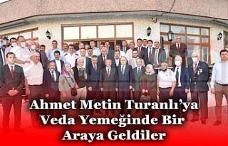 İl Emniyet Müdürü Ahmet Metin Turanlı'ya Polisevi'nde...