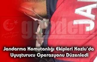 Jandarma Komutanlığı ekipleri Kozlu'da Uyuşturucu...