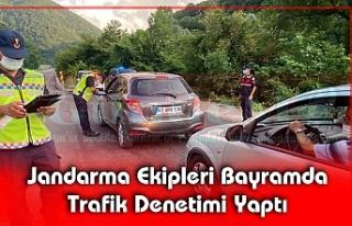 Jandarma Ekipleri Bayramda Trafik Denetimi Yaptı
