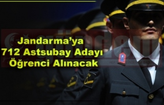 Jandarma'ya 712 Astsubay Adayı Öğrenci Alınacak