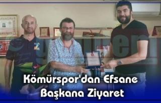 Kömürspor'dan Efsane Başkana Ziyaret