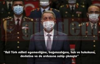 Milli Savunma Bakanı Hulusi Akar, 15 Temmuz Demokrasi...